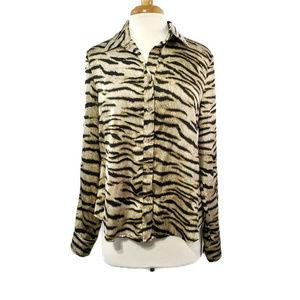 Michael Kors Women's Button Down Blouse Size L
